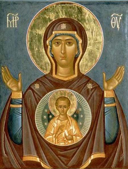 Икона Девы Марии «Знамение»